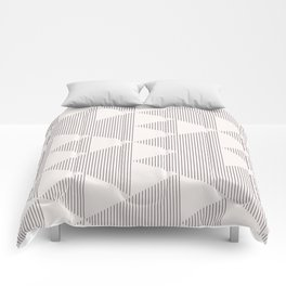 Triangles and Lines Comforters