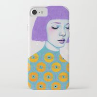 purple iPhone & iPod Cases featuring The Observer by Natalie Foss