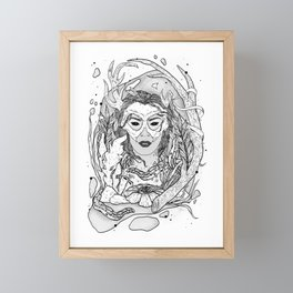 earth • wind • fire • WATER Framed Mini Art Print