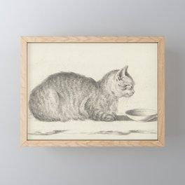 Vintage Cat Drawing, 1812 Framed Mini Art Print