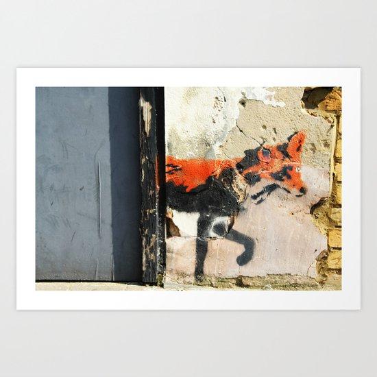 Sneaky Little Fox Art Print