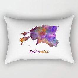 Estonia in watercolor Rectangular Pillow