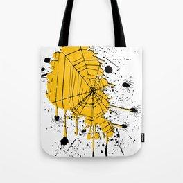Spiderweb spiders ink splash Tote Bag