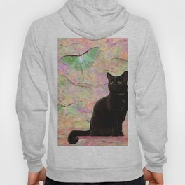 Luna Cat Pink & Green Hoody