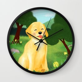 A Golden Day Wall Clock