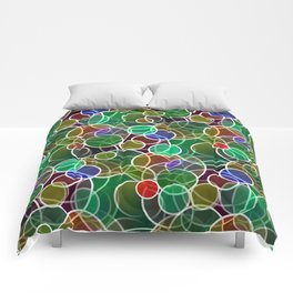 Psychedelic Circles Comforters