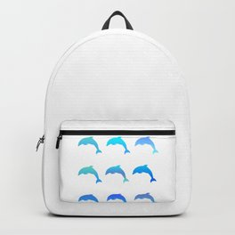 Blue dolphins Backpack