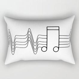 Music Beat Rectangular Pillow