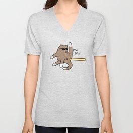 Cat Butt Laser Unisex V-Neck