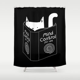 Mind Control 4 Cats Shower Curtain
