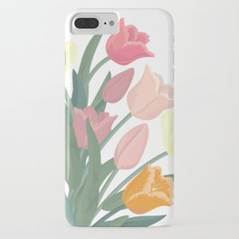 Bouquet of tulips in glass vase iPhone Case