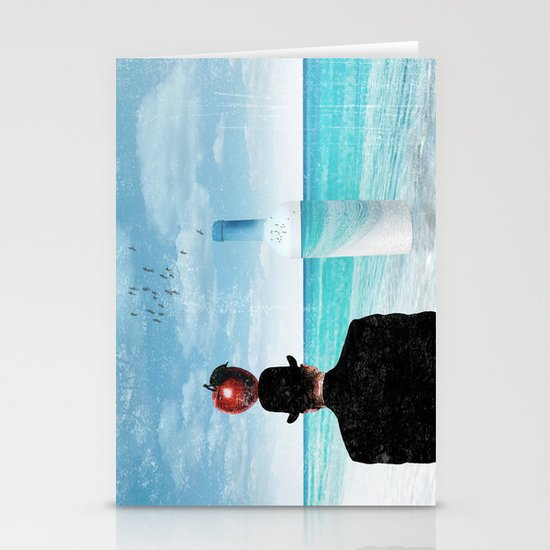 René at the beach Stationery Cards