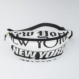 I Heart New York City Black and White New York Poster I Love NYC Design black-white home wall decor Fanny Pack