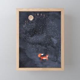 Fox Dream Framed Mini Art Print
