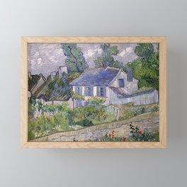 Houses in Auvers Framed Mini Art Print