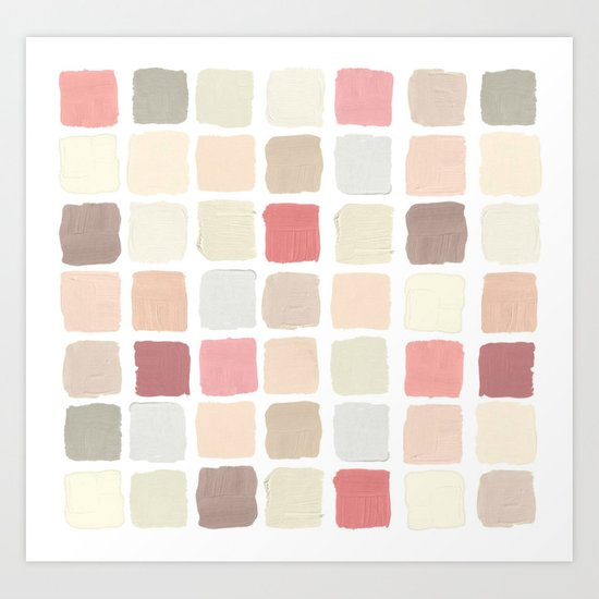Pink Paint Swatches Art Print