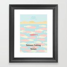 Salmon Fishing in the Yemen - Minimal poster Framed Art Print