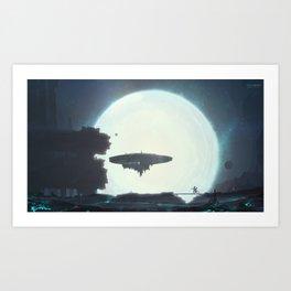 Night of supernova Art Print