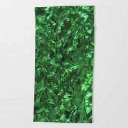 Abalone Shell   Paua Shell   Green Tint Beach Towel
