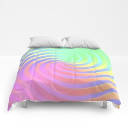 Rainbow Chrome Spiral Comforters