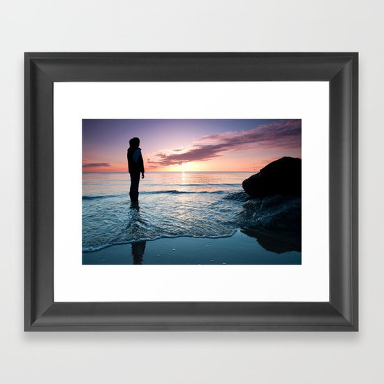 Tomorrow is a new day Framed Art Print