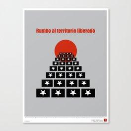 CUBA: Rumbo al Territorio Liberado (Toward a Liberated Territory) Canvas Print