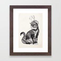 Wizard Cat | Graphite Framed Art Print