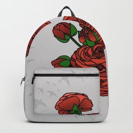 Doves and Red Roses Backpack
