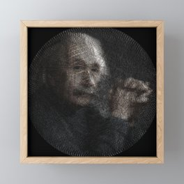 Albert Einstein, a String Art Portrait Framed Mini Art Print
