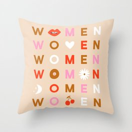 Women Throw Pillow