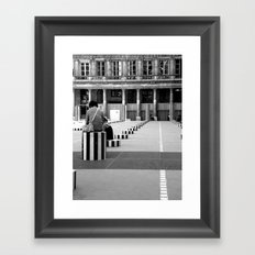 Full speed ahead into the wall Framed Art Print