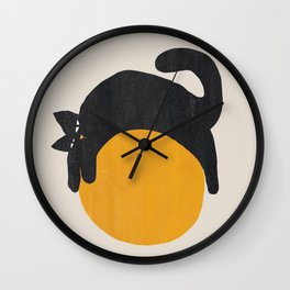 Cat with ball Wall Clock
