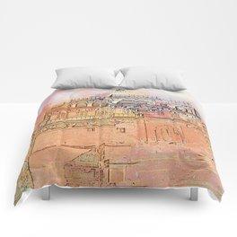 Rajasthan India Temple Sunrise Comforters