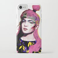 grimes iPhone & iPod Cases featuring Grimes by Zaneta Antosik