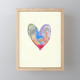 Abstract Heart Framed Mini Art Print