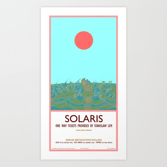Solaris - Travel Poster Art Print