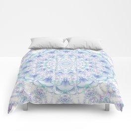 Purple, Blue, and Green Pastel Mandala Comforters