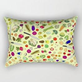Vegetable Soup Recipe Rectangular Pillow