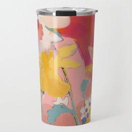 blooming abstract pink Travel Mug