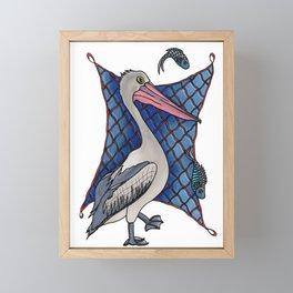 Pelican Personality Framed Mini Art Print