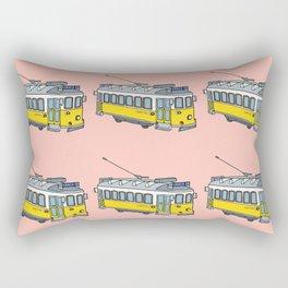 Lisbon Tram Pattern Rectangular Pillow