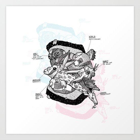 Sandwich (for meat lovers) Art Print
