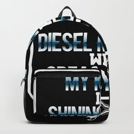 Knight shining Diesel Mechanic with greasy Hands Backpack