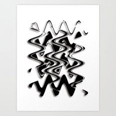 Abstraction in black and white CB Art Print