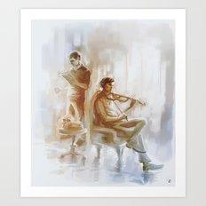 [ 221B ] Baker Street - sherlock holmes & john watson Art Print