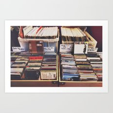 vintage records Art Print