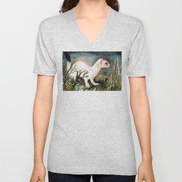 Winter stoat watercolor Unisex V-Neck