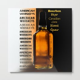 Bottle of Whiskey Metal Print