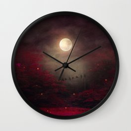 Red Sounds like Poem Wall Clock