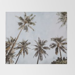 palm trees xiv / chiang mai, thailand Throw Blanket